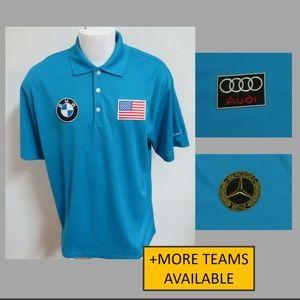 New XL Blue Nike Usa Men db Polyester #06U Polo